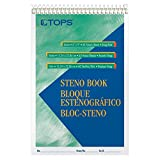 TOPS Steno Books, 6'' x 9'', Gregg Rule, Green Tint Paper, 80 Sheets, 12 Pack (8021)