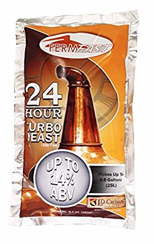 - 24 HOUR TURBO YEAST FERMFAST 260g PACKET of Distillers Yeast