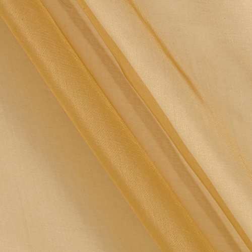 TELIO Silk Organza Fabric by The Yard, Gold