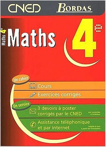 Lire en ligne MATHS 4E - CNED/BORDAS    (Ancienne Edition) pdf