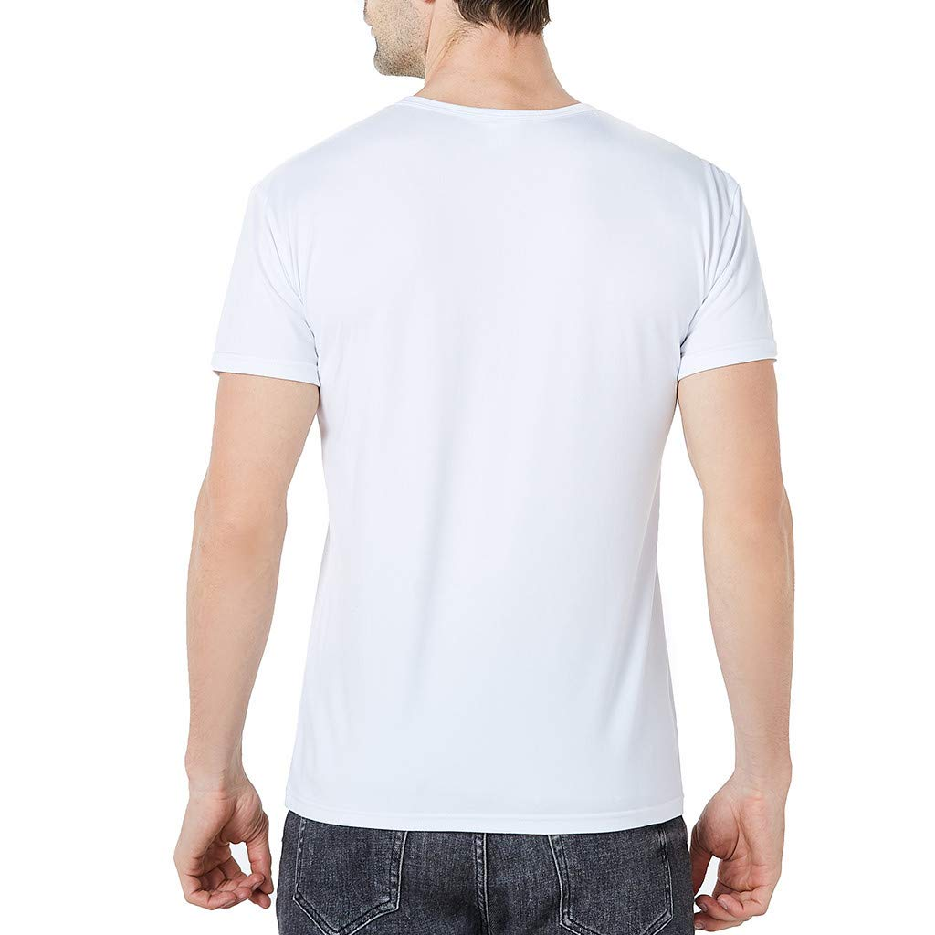 iHPH7 T Shirts for Men Casual Short Sleeve Tops Blouse #19051706