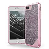 iPhone 8 Plus, iPhone 7 Plus, iPhone 6 Plus Case, X-Doria Defense Lux Series - Military Grade Drop Tested Case for Apple iPhone 8 Plus, iPhone 7 Plus & iPhone 6 Plus (Pink Glitter)