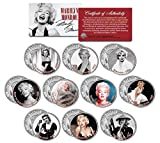 MARILYN MONROE MOVIES Colorized JFK Half Dollar U.S. 10-Coin SetLICENSED by Merrick Mint