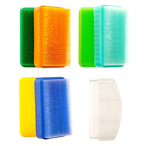 Sensory OT Brushes Colorful 6 Pack + 1 Removable Handle for Wilbarger Brushing Protocol (BPA/Phthalate/Latex-Free) by Special Supplies (Image #3)