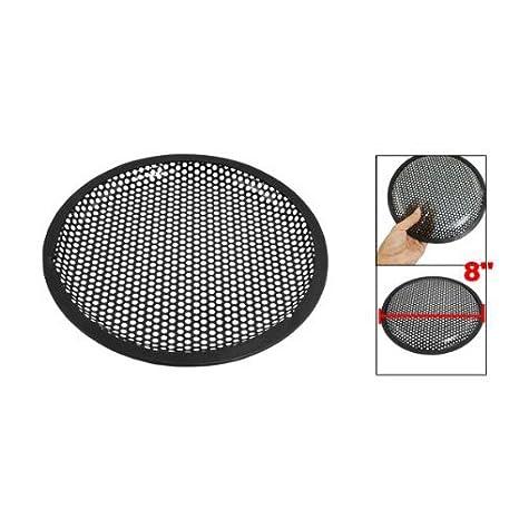 SODIAL(R)Universal 8 pulgadas Rejilla guardia cubierta de galleta del metal negro de altavoz subwoofer: Amazon.es: Electrónica