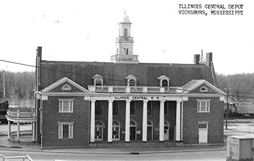 Vicksburg Mississippi Illinois Central Depot Real Photo Antique Postcard K92229 (Mississippi Postcard)