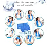 LARARHEE-Cold Sensation Beach towel Drying Swiming Travel Sports Bath body Towel Yoga Mat offers