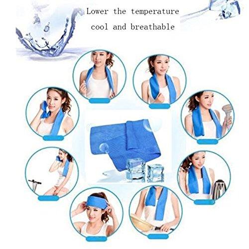 LARARHEE-Cold Sensation Beach towel Drying Swiming Travel Sports Bath body Towel Yoga Mat