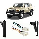 Fits Toyota FJ Cruiser 2007-2010 Double DIN Harness Radio Install Dash Kit