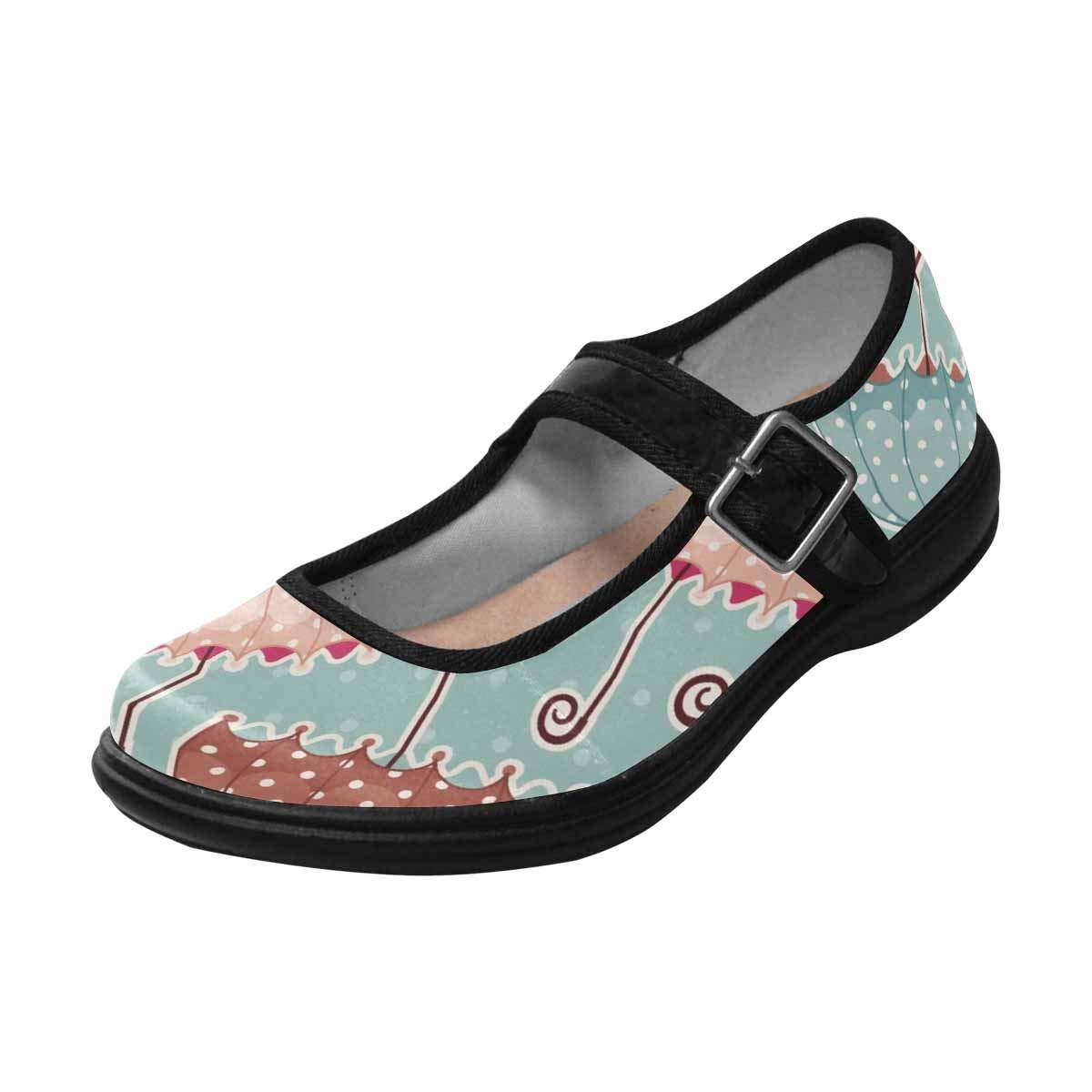 Scholls Umbrellas INTERESTPRINT Womens Slip-Resistant Mary Jane Flats for Dr