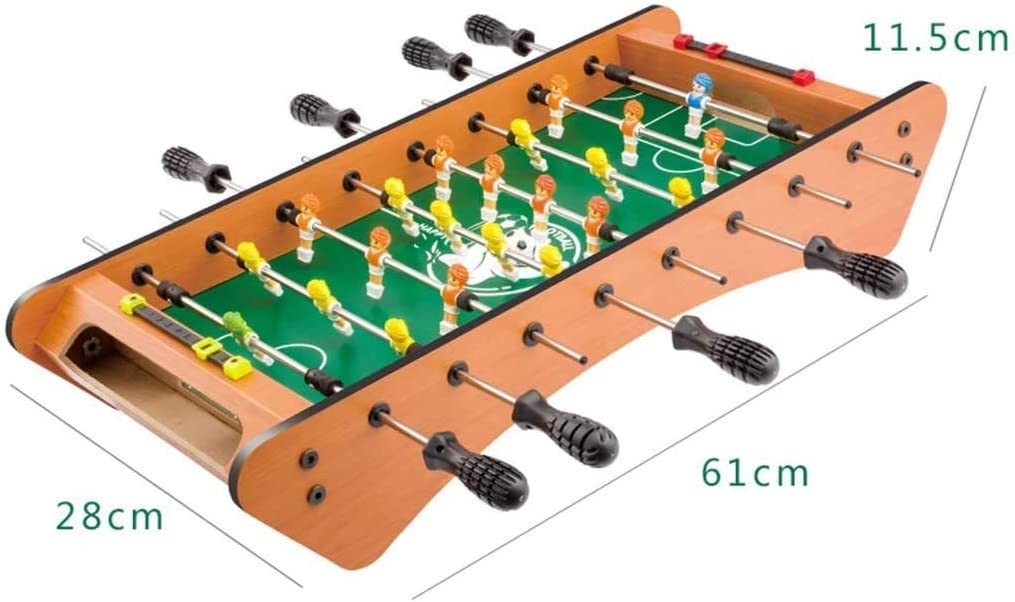 GSAGJsh Juguete Educativo de Futbolín Niños 3-10 de Juguete de Regalo de Año Viejo niños de 8 Asientos de Madera Futbolín Máquina Regalo Juego de la Familia de la máquina (Tamaño: 61 *