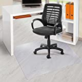 Office Marshal® PVC Office Chair Mat for Hard Floors (30' x 48') | Clear Vinyl, Rectangular, Floor Protection