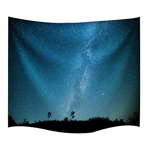 IMEI Celestial Galaxy Night Sky Full of Stars Wall Tapestry White Cloud Tapestry Dark Blue Psychedelic Art Decor Wall Hanging in Dorm Living Room Bedroom