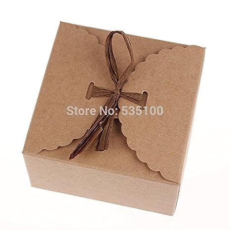 Amazon Com Retro Mini Kraft Paper Box Diy Wedding Gift