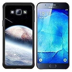 YiPhone /// Prima de resorte delgada de la cubierta del caso de Shell Armor - Extranjero Ducha Planetas Meteor Stars Espacio Cosmos - Samsung Galaxy A8 A8000