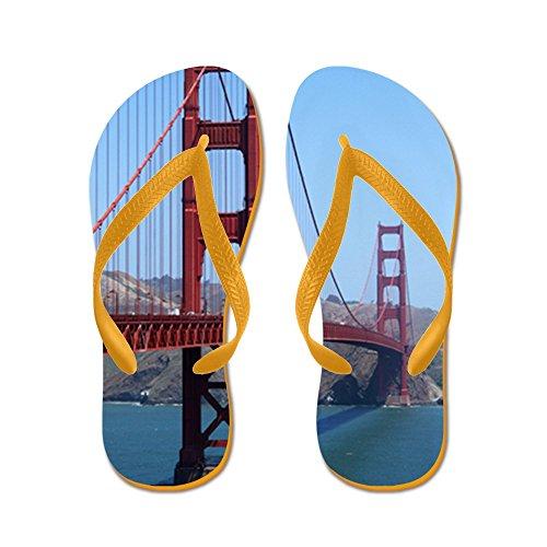 Cafepress San Francisco Golden Gate - Infradito, Divertenti Sandali Infradito, Sandali Da Spiaggia Arancione