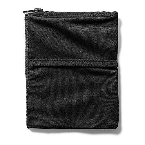 Eddie Bauer Unisex-Adult 2 Pocket Phone Banjees Wrist Wallet, Black Regular ONES (Banjees Wallets Wrist)