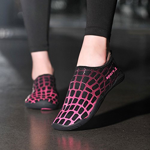 Suave Agua Piscina Insun Barefoot Shoes Descalzos Surf Playa Zapatos Yoga Negro Rojo De Aqua Transpirable Buceo OEAETq