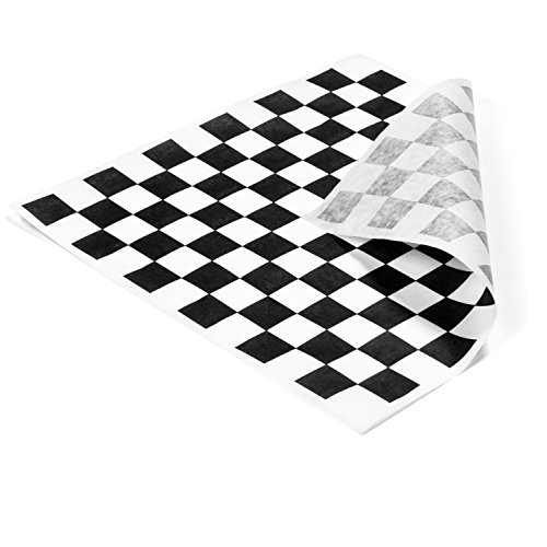 1000 Sheets - Food Basket Liner Deli Paper Sandwich Wrap Paper 12inx12in (Black) by California Containers (Image #1)