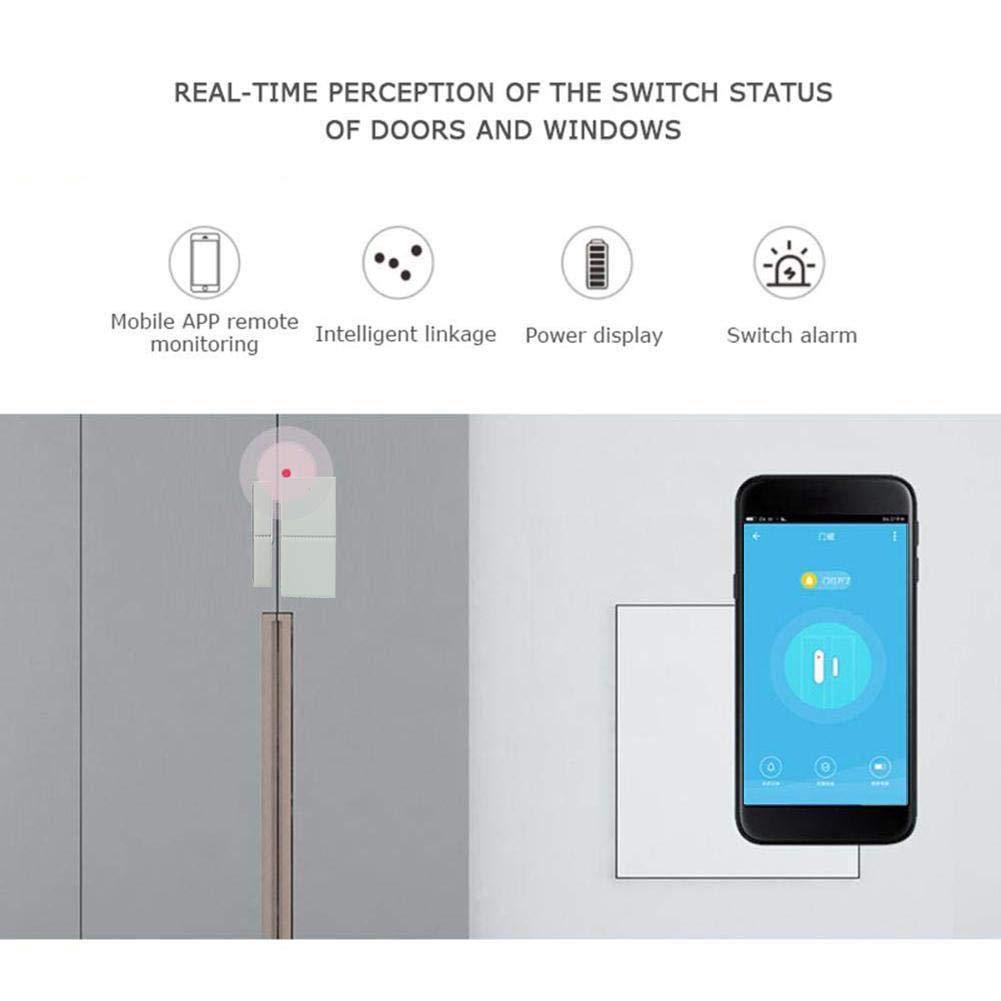 Smarte /Überwachung Der Fenster Detektor Kompatibel Mit Alexa Google Home IFTT Kontrolliert Durch Telefon Tablet F/ür Home Einbruchmeldeanlage Smart Home Fenster Und T/ürkontakt WiFi T/ür Offen Alarm