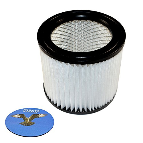 HQRP Small Cartridge Filter for Shop-vac 903-98 90398 9039800 903-98-00 Type AA Replacement fits Shop-Vac Wet/Dry Vacuums 903-99 90399 9039900 + HQRP Coaster