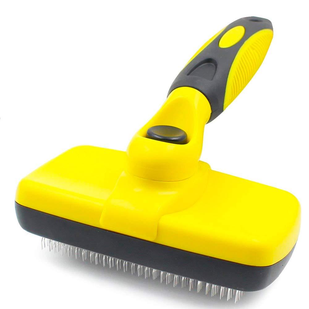 Cepillo de limpieza para perro, cepillo de limpieza para mascotas y gatos, cepillo de peluquería para perros grandes o pequeños con pelo corto a largo, ayuda a pelar, acabado, desenredar Werded