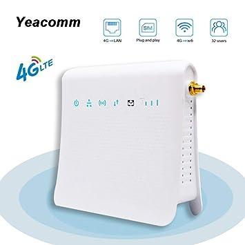 Yeacomm 4G WIFI Router, LTE Wireless CPE Router Enrutador de ...