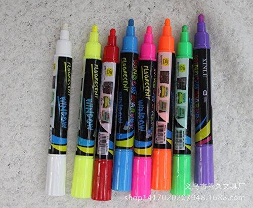 Zorpia® Color Liquid Chalk Marker Pens 8-pack - 4mm Regular Tip - Brilliant Bold Colors
