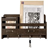 Mkono Mail Sorter Organizer Wood Key Holder