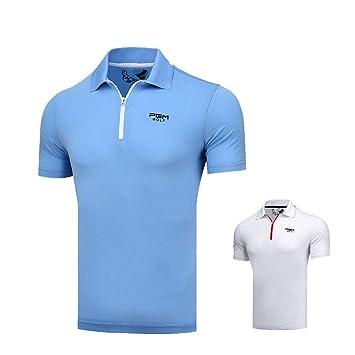 Mhwlai Camiseta de Golf para Hombre, Ropa de Golf Transpirable ...