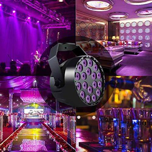 Projector Low Voltage Mini (18 LED54W Mini UV Purple Light Par Light Effect Light Stage Lights Party Stage Plus Halloween Christmas Lights Yard Garden Decoration Lights)