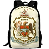 ZQBAAD Arkansas State Coat Of Arms Luxury Print Men And Women's Travel Knapsack