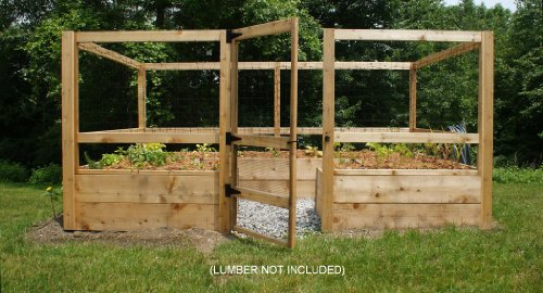 Deer-proof Just Add Lumber Vegetable Garden Kit - 8'x12'