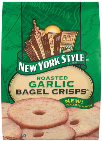 Chip Bagel Garlic -Pack of 12 by New York Style