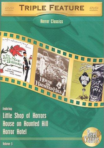 Horror Classics Triple Feature, Vol. 5 (Little Shop of Horrors (1960) / House on Haunted Hill (1958) / Horror Hotel) (Castle Hills-shops)