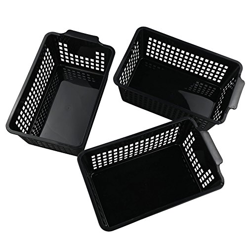 Begale Plastic Storage Basket/Bins Organizer, Set of 3