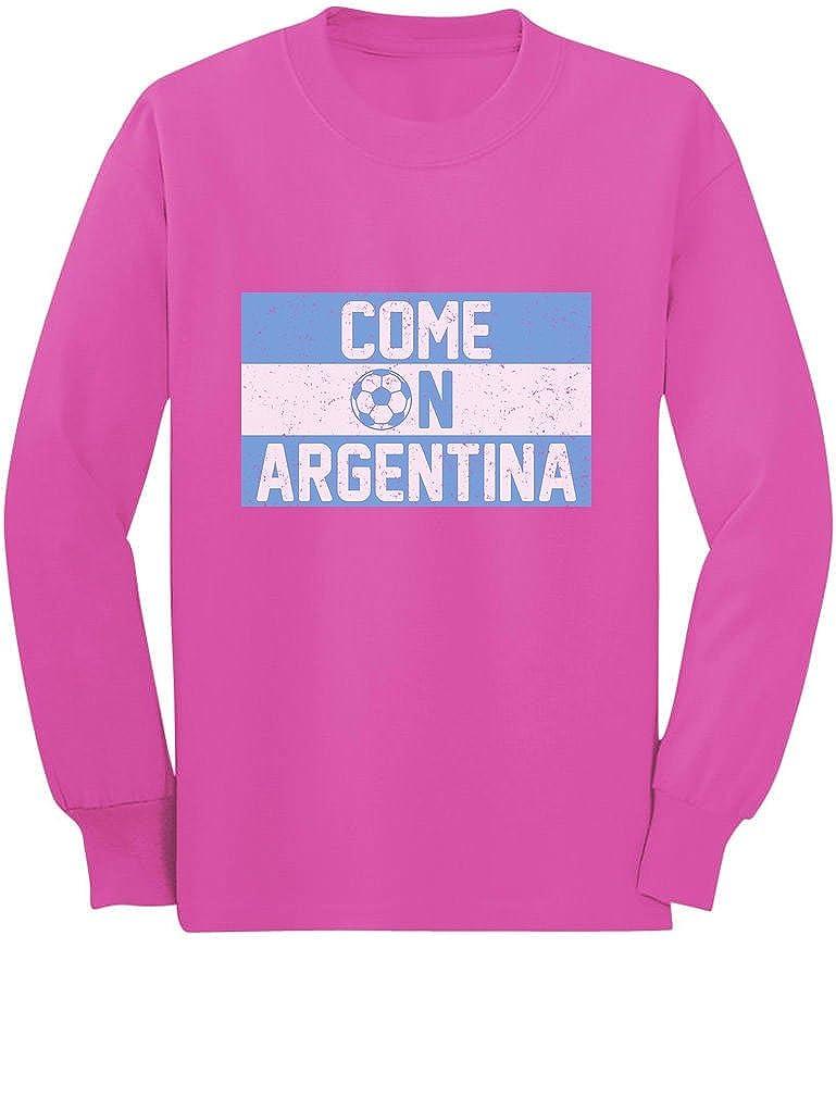 Tstars Come On Argentina Soccer Fans Toddler//Kids Long Sleeve T-Shirt