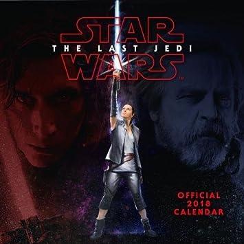 Star Wars Episode 8 The Last Jedi Official 2018 Calendar Calendar