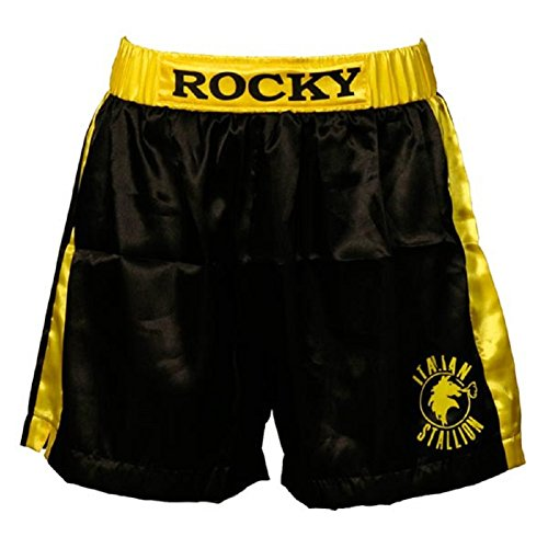 Rocky Black Italian Stallion Boxer Shorts (Adult Medium)