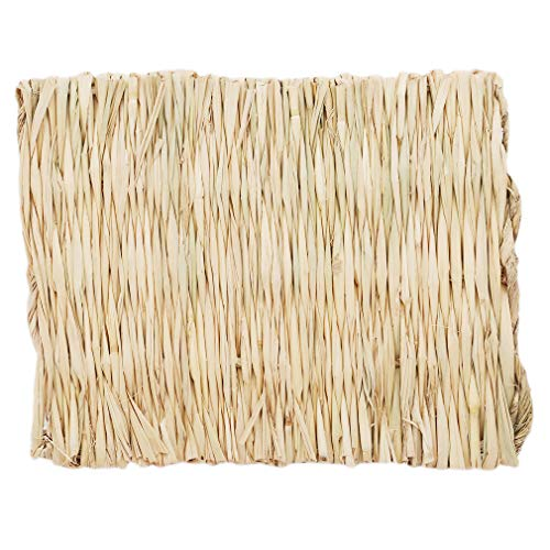 DearAnswer Small Animal Chew Toy Beds Natural Handwoven Grass Mats Safe and Edible for Hamsters Rabbits Parrot Guinea Pig and Ferret,20281