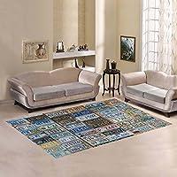InterestPrint Unique Debora Custom Rectangle Area Rug Floor Rug Carpets Usa License Plates