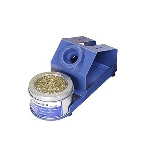 Soporte para soldador, soporte para soldador con limpiador de puntas Anillo para baquelita que proporciona