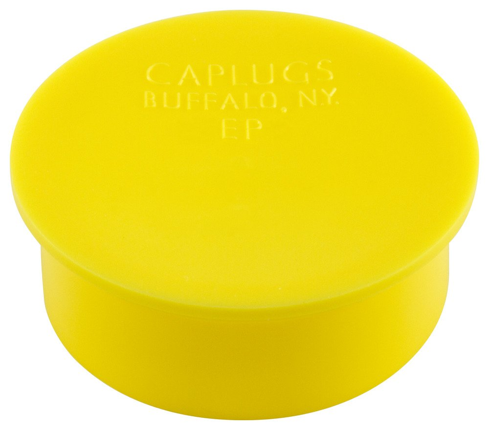 Caplugs 99394539 Plastic Plug for Threaded Connectors. EP-16, PE-LD, to Plug Nominal Thread Size 1-20'', Yellow (Pack of 100)