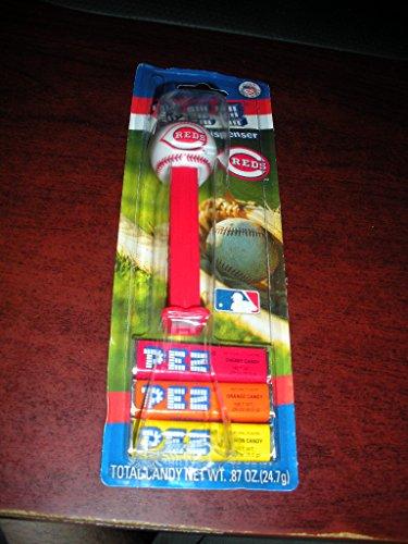 - PEZ Cincinnati Reds Candy & Dispenser (3 candy packs)