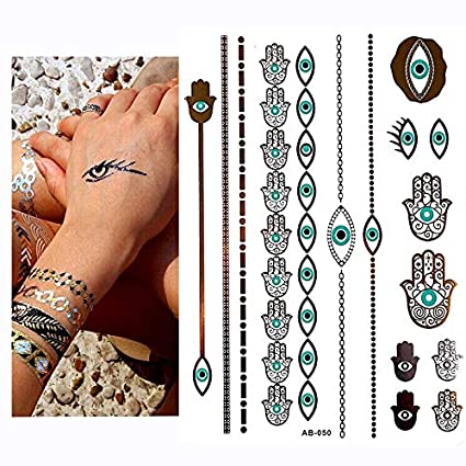 anzihuanxi Halloween Impermeable Tatuajes Temporales para Hombres ...
