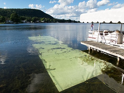 - Lake Bottom Blanket Aquatic Weed Control, a Chemical Free 10 feet x 40 feet Lake Weed Control Benthic Barrier Kills 100% Weeds it Targets, Doesn't Harm The Lake Instant Weed Free Swimming