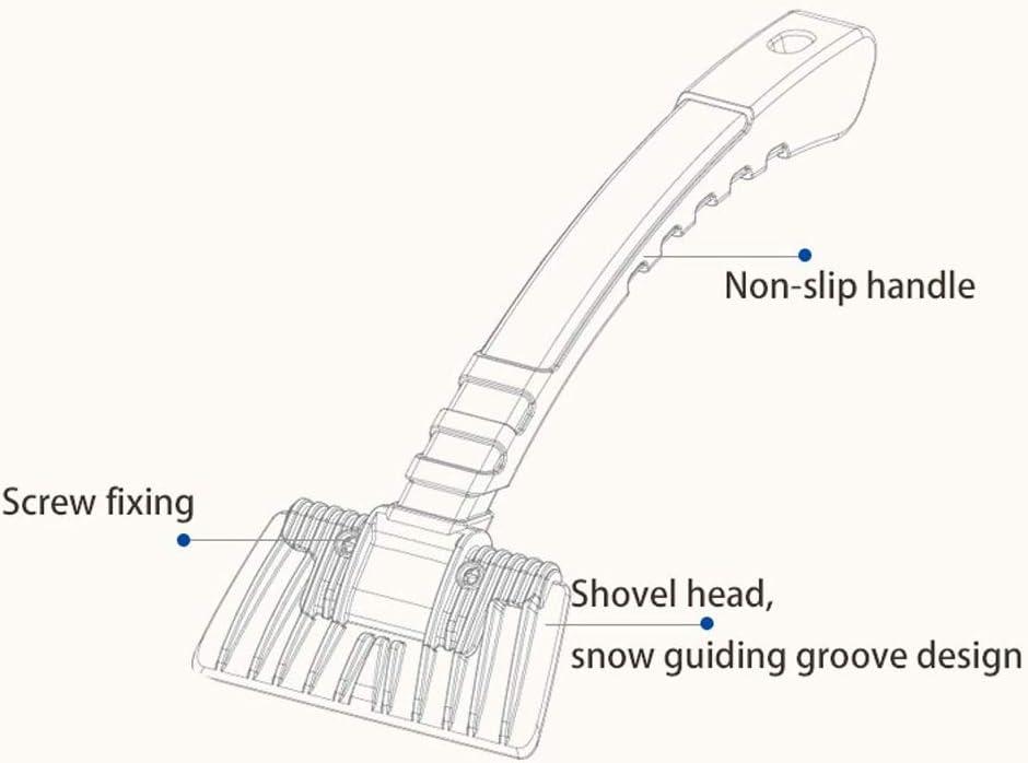 mit rutschfestem robustem ABS-Kunststoffgriff GeekerChip-Schneeb/ürste zum Abtauen