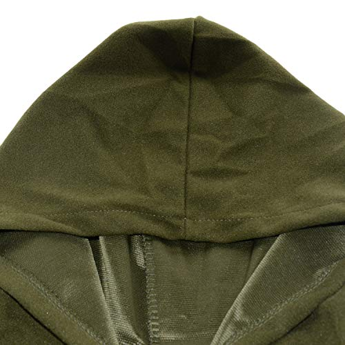 Automne Robes Capuche Chaude Femme Arme Poncho Couleur Longue Blouson Manteau Unie Veste Longue verte Hiver lgant Cape Tops 560wAF