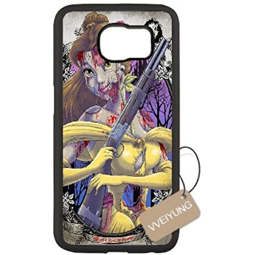 Diy Customized Cell Phone Case for Zombie Princess Black Samsung Galaxy s7 Hard Back Cover Shell Phone Case (Fit Sales