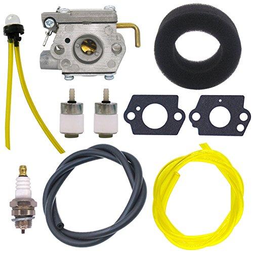 (NIMTEK WT-827 Carburetor with Air Filter Fuel Filter Tune-Up Kit for MTD Bolens BL100 BL150 BL250 BL410 Yard Man Machines YM70SS 120R 121R 2800m Y28 Y725 YM1000 YM1500 YM320BV YM400)